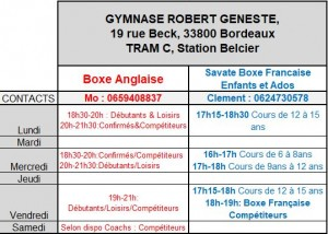 Horaires anglaise