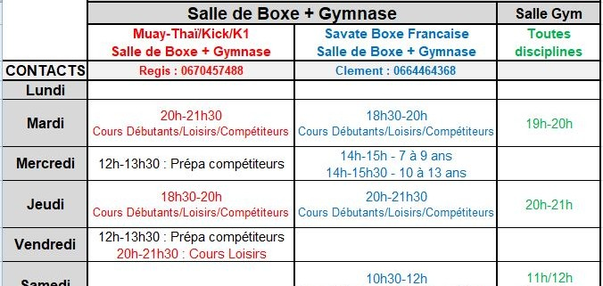 Horaires Stade Chaban